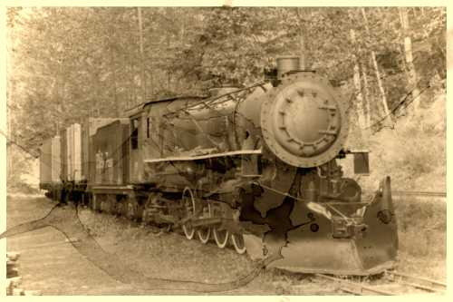 Old White Pass Steam Train by Peter von Moos